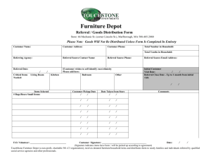 Touchstone Furniture Depot Referral Form