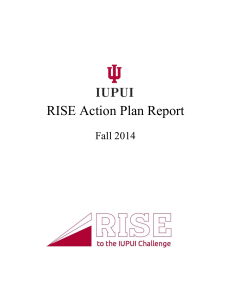 RISE Action Plan Report - Division of Undergraduate Education