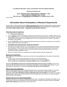Research Handout - University at Albany