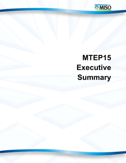 MTEP15 Executive Summary
