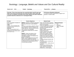 LP 20 Symbolic Interactionism and Linguists as Cultural Reality