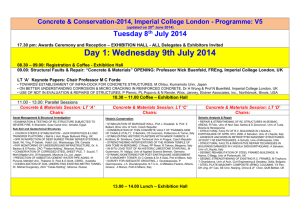 Concrete & Conservation-2014, Imperial College London