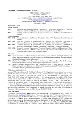 Curriculum Vitae (updated February 20, 2015) PIERANGELO