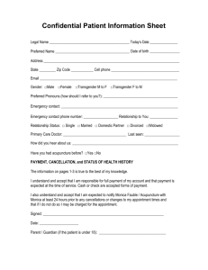 Confidential Patient Information Sheet