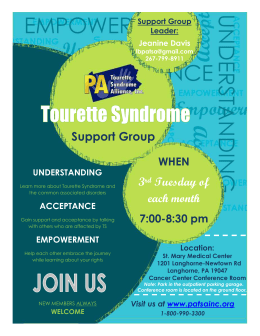 Tourette Syndrome Support Group