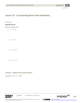 Algebra II Module 1, Topic D, Lesson 37: Student Version