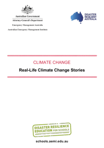 Real-Life Climate Change Stories [WORD 512KB]