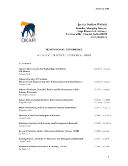 View C.V - Okapi Research and Advisory