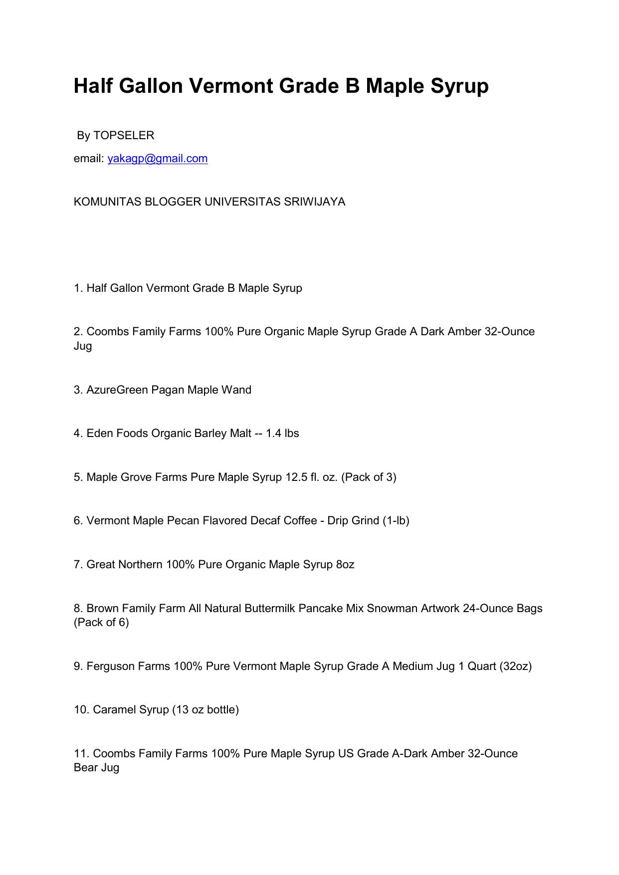 449a032f7da Half Gallon Vermont Grade B Maple Syrup - Blog Unsri