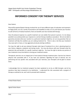 informed consent for therapy