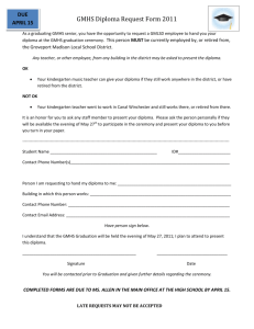 GMHS Diploma Request Form 2011