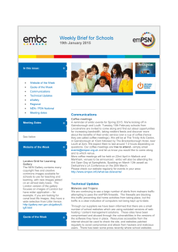 embc Weekly Brief for Schools 19th January 2015