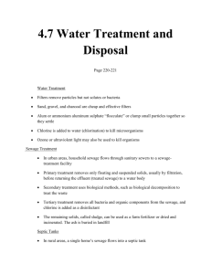 Water Treatment and Disposal