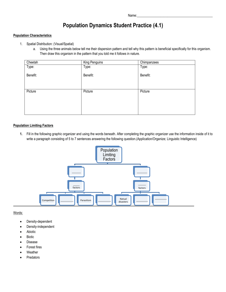 Interpreting Ecological Data Worksheet Answers ...