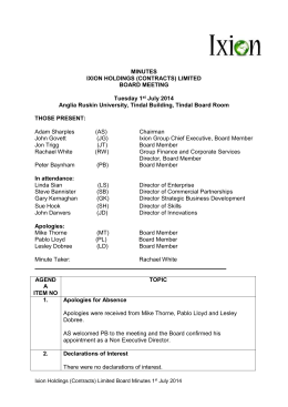 MINUTES IXION HOLDINGS (CONTRACTS) LIMITED BOARD