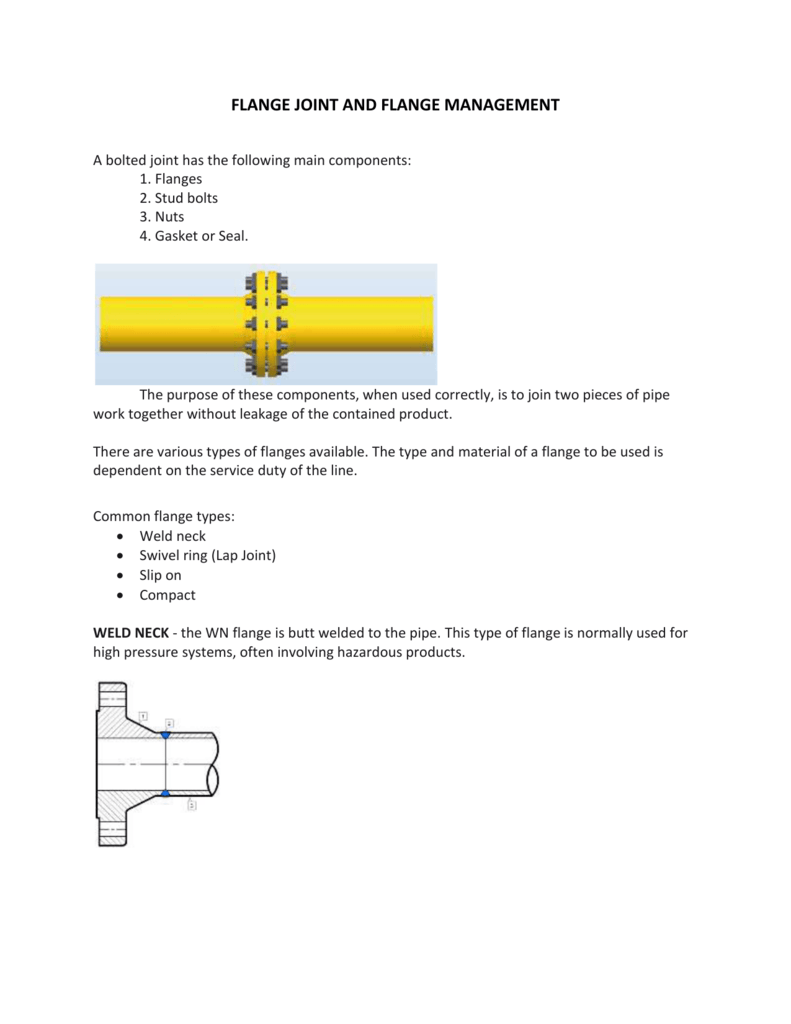 flange joint and flange management