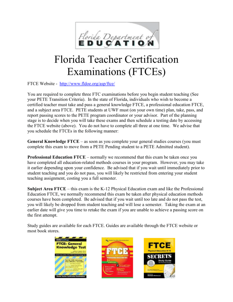 Florida Teacher Certification Examinations Ftces Ftce Website