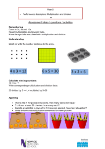 Year 2 multiplication and division