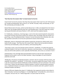 Press Release - Cotuit Center For The Arts