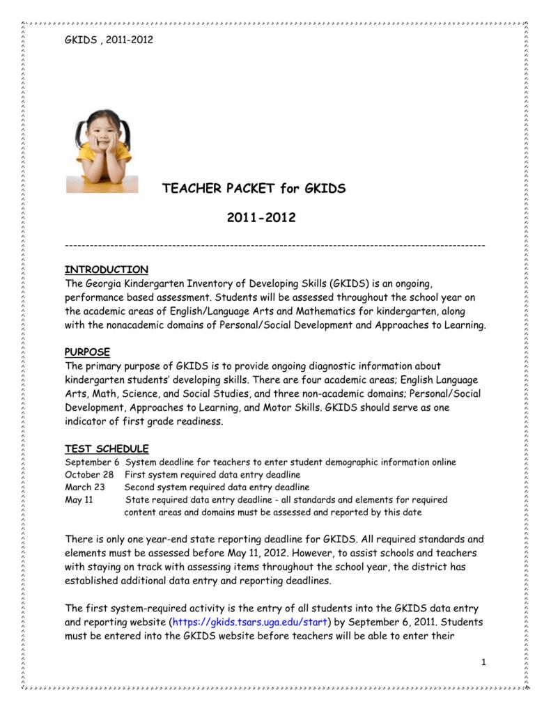 guidelines teacher packet rh studylib net gkids manual 2016 17 gkids manual 2016 17
