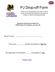 PJ Drop Off Form - Cradles to Crayons