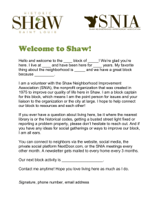 Welcome to Shaw - Shaw Neighborhood
