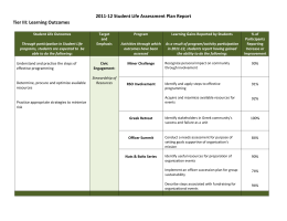 2011-12 Student Life Assessment Plan Report Tier III: Learning