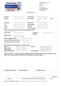 SPEECH & LANGUAGE THERAPY PAEDIATRIC REFERRAL FORM