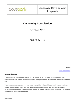 Community Consultation DRAFT report nophoto