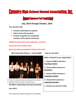 Donation form (mail) - Coventry High School Alumni Association, Inc.