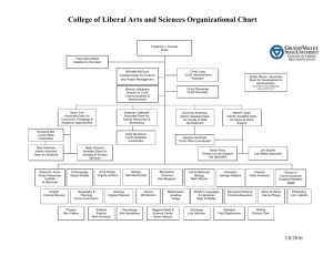 Organizational Chart of the CLAS College Office
