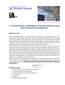 14 th International Conference on Global Research and Education
