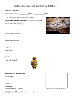 Prehistoric and Ancient Near East Guided Notes