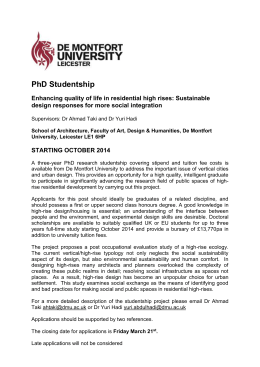 Junior Research Fellow - De Montfort University