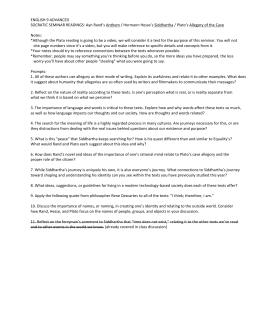 9th Grade Pre-AP English - The QUESTions