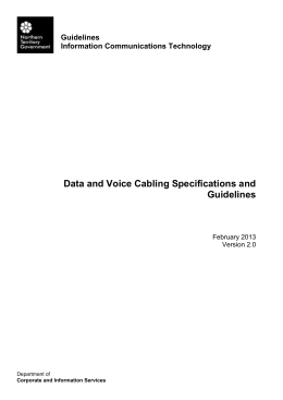 Data and Voice Cabling Specifications