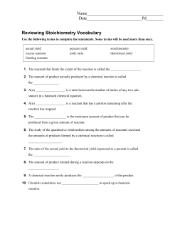 ap chemistry stoichiometry reading guide 4 kotz rh studylib net