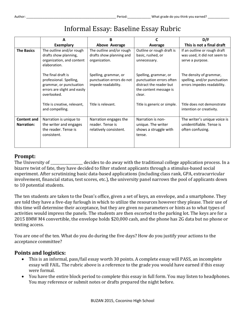 Timed Writing Baseline Essay  Buy A Completed Business Plan also How To Write Proposal Essay  Buy Essay Papers