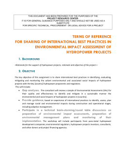 for Sharing of International Best Practices in Environmental Impact