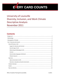 Diversity and Inclusion - University of Louisville
