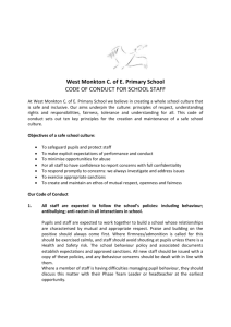 Code of conduct for school staff