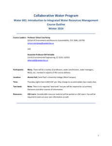 Introduction to Integrated Water Resources