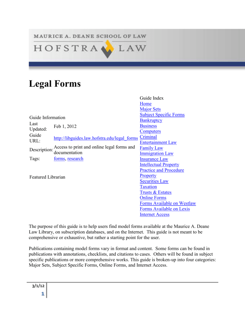 Legal Forms - Help with legal forms