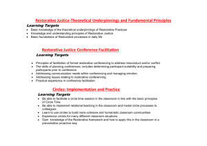 Restorative Justice-Theoretical Underpinnings and
