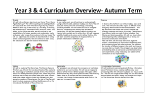 Year 3 & 4 Curriculum Overview