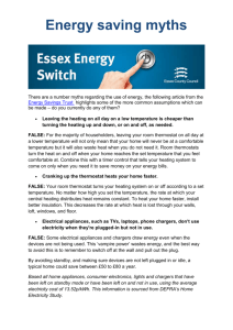 Energy saving myths