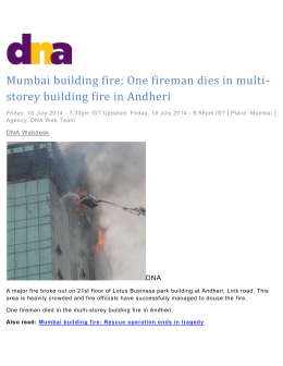 Mumbai building fire