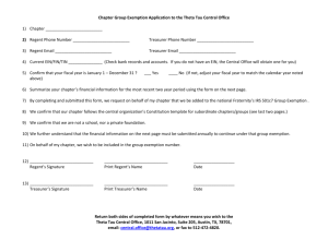 Group Exemption Application