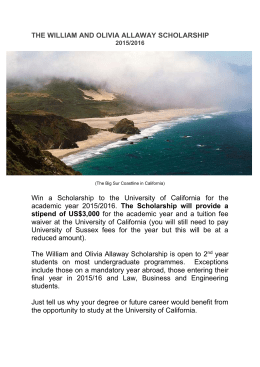 the william and olivia allaway scholarship