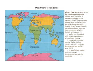 Map of World Climate Zones